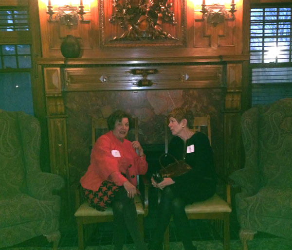 Friends and supporters of the YWCA Wege Sojourner House, Pat Waring and Joan Krause-